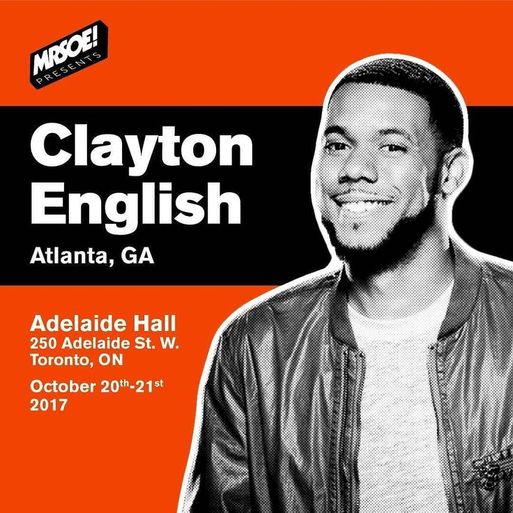@Mobtreal caught him at @justforlaughs this summer and you can catch him this weekend to Toronto! @claytonenglish kicks off the @MRSOE_ 4 part comedy series at @adelaidehallto. Buy your tickets at ticketfly.com!! #comedy #jokes #mrseo #claytonenglish #toronto #standup #mostracesshowonearth #support #jointhemob