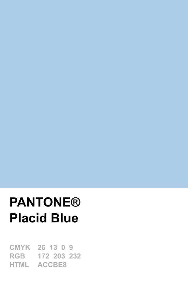 Pantone 2014 Placid Blue