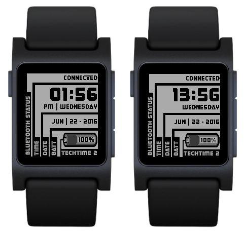 TechTime 2  Pebble Watch App