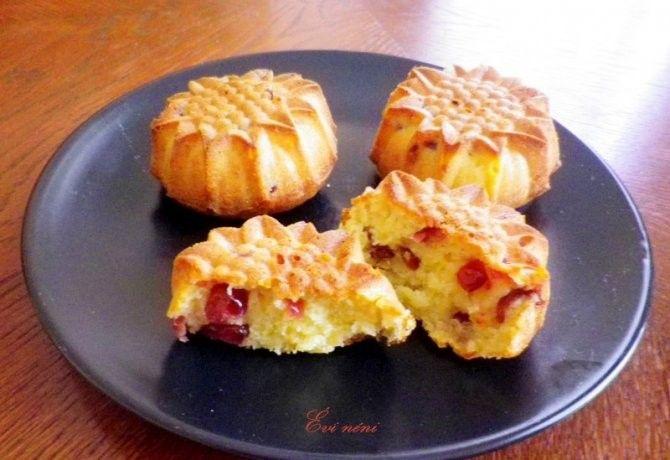 Áfonyás-narancsos muffin