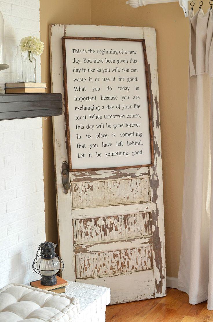 Decorate With Old Windows Best 25 Old Door Decor Ideas On Pinterest Door Picture Frame