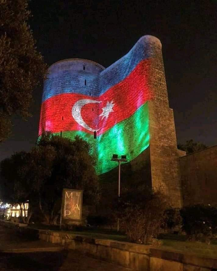 Vchera V Chas Nochi Gyz Galasy Azerbaijan Flag Baku Azerbaijan Beautiful Wallpapers