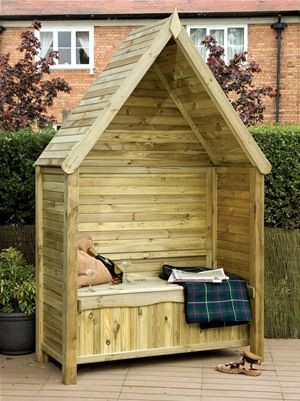The Linton Wooden Garden Arbour Seat by Grange