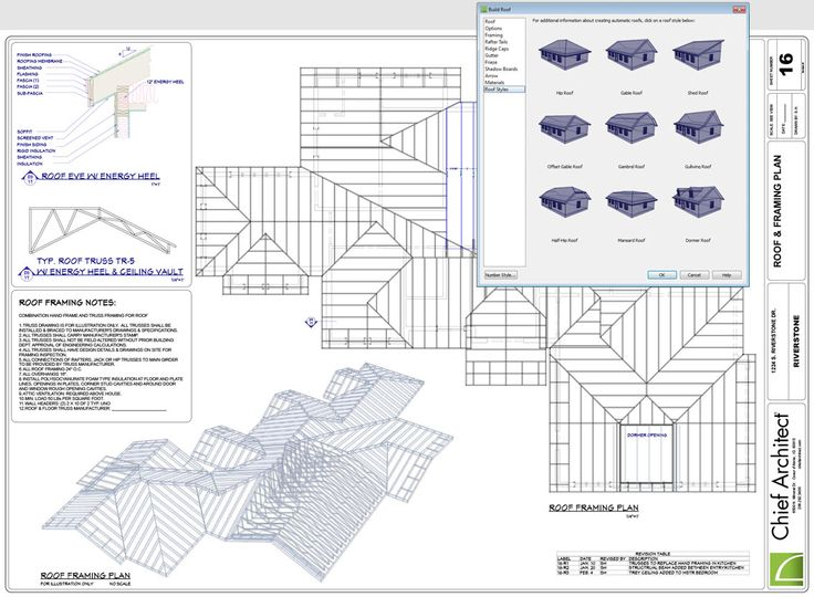 Roof Plan Construction Documents Roof Design Chief Architect Construction Documents
