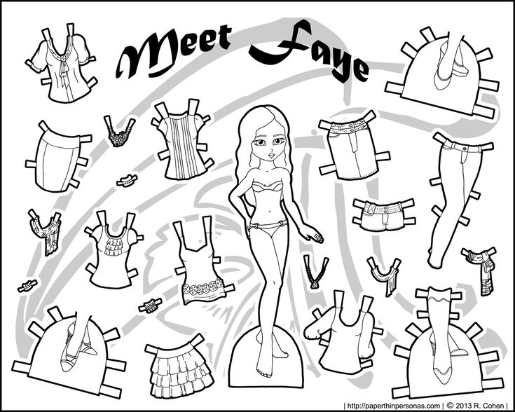 Best Mini Maidens Paper Dolls Images On   Printable