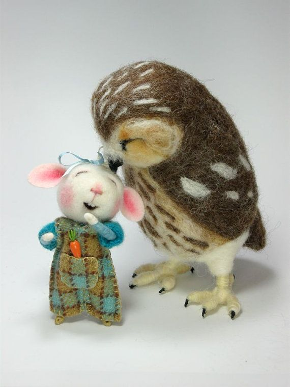 Dressed Mouse/Bunny Class  Needled Felted Needle by barby303, $45.00