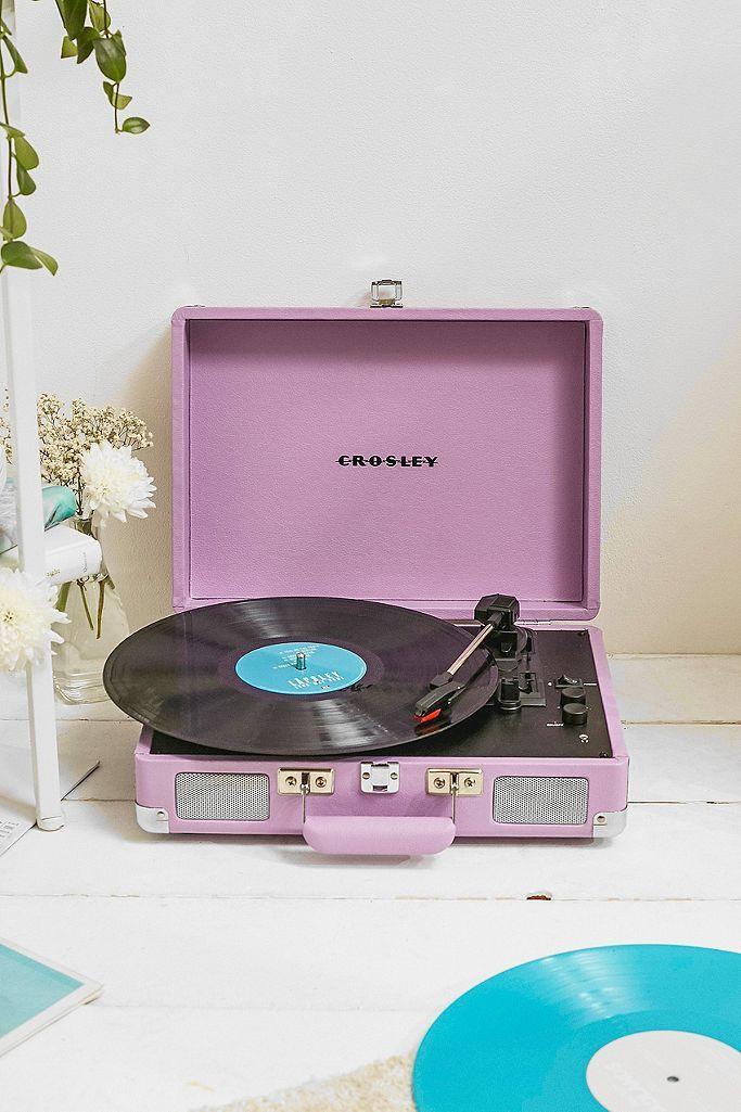 Crosley Cruiser Pastel Lilac Bluetooth Vinyl Record Player In 2020 Vinyl Record Player Vinyl Player Vinyl Records
