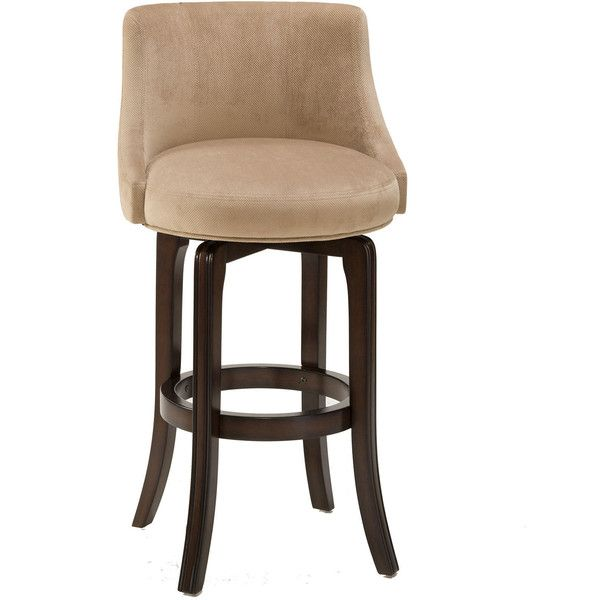 Counter Height Swivel Bar Stools Part - 49: Hartman Swivel Upholstered Barstool With Back Featuring Polyvore, Home,  Furniture, Stools, Barstools. Counter Height ...