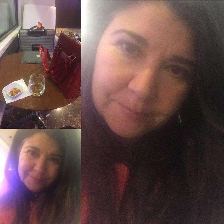 Santiago International Airport- Delta SkyClub on my way to Mexico