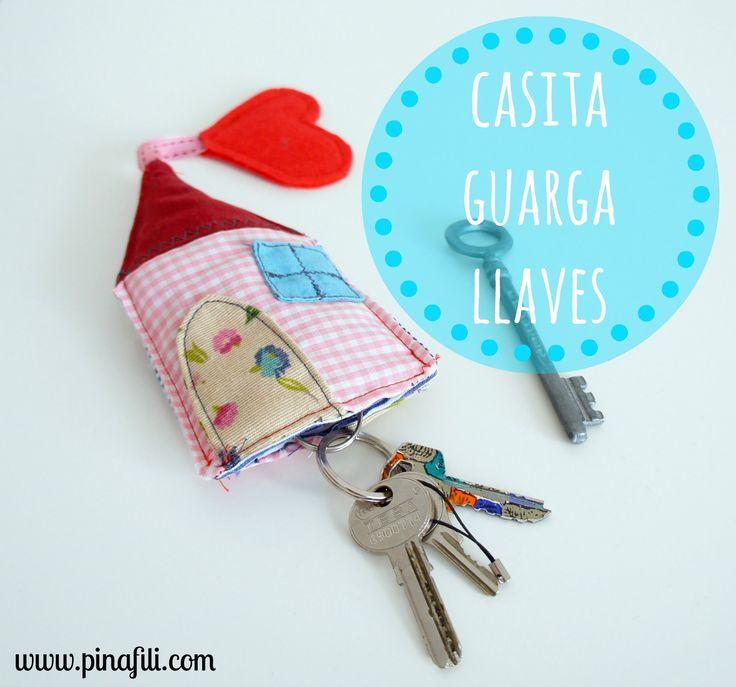 tutorial fabric key holder ♥