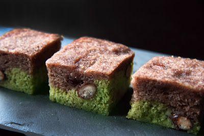 Matcha Ukishima, steamed sponge cake japanese #sweets #recipe