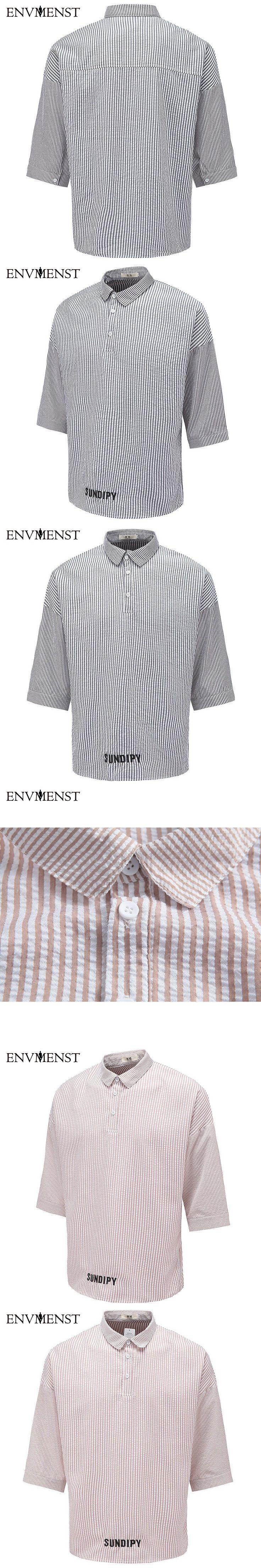 2017 Men Shirts Chinese style Cotton shirts men camisas hombre vestir Male blouse Half sleeve casual Striped shirt men clothing