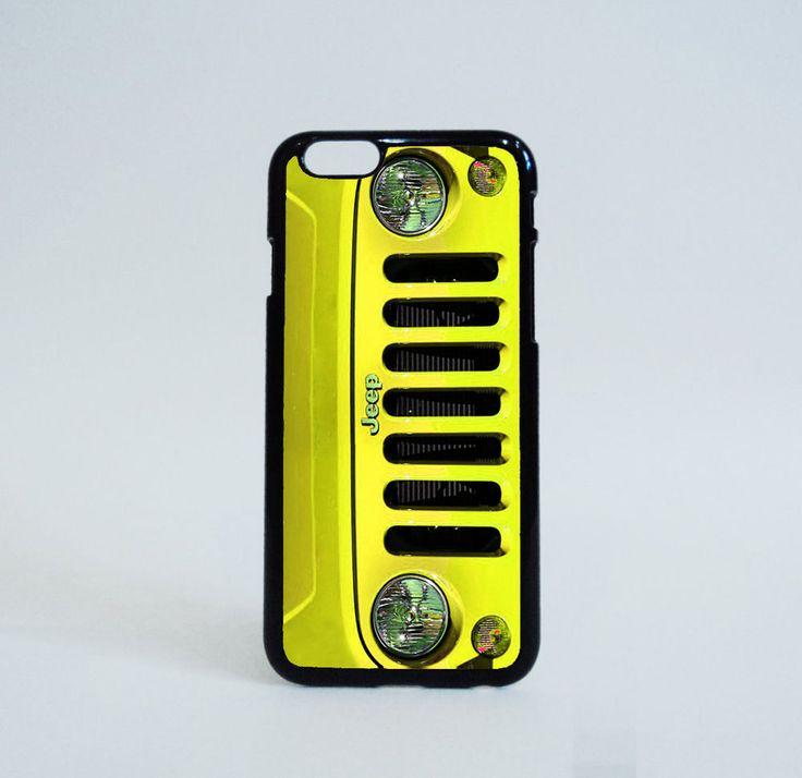 Yellow Jeep Wrangler Custom Cases iPhone 6 Case Print on Hard Plastic #Unbranded