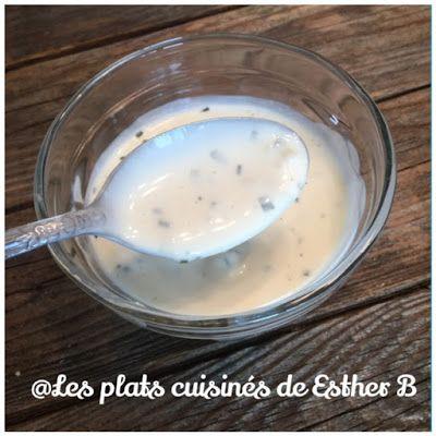 Les plats cuisinés de Esther B: Sauce ranch