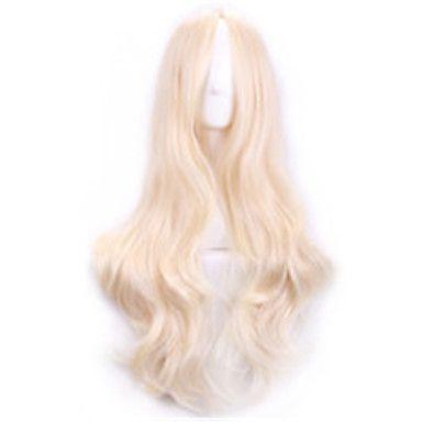 70+cm+harajuku+cosplaya+peruker+kvinnor+sexig+långt+vågigt+lockigt+syntetiskt+hår+europeisk+amerikansk+stil+beige+blond+peruk+–+SEK+Kr.+842