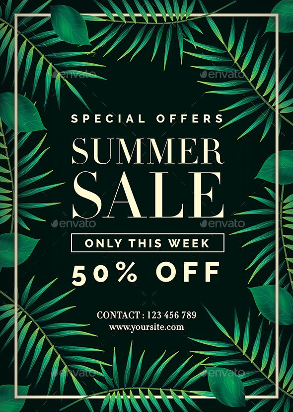 Summer Sale Flyer Template PSD. Download here: https://graphicriver.net/item/summer-sale-flyer/17498336?ref=ksioks