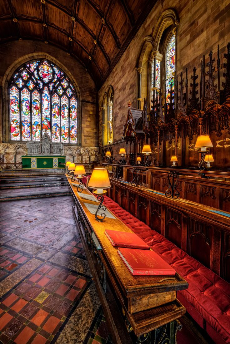 Church Lamps - St Asaph Cathedral Denbighshire, north Wales. An Anglican church, it is the episcopal seat of the Bishop of St Asaph. The cathedral dates back 1,400 years, while the current building dates from the 13th Century.