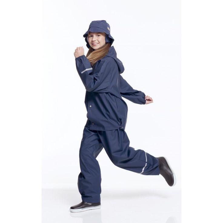 Erw. Regenbekleidung Set - Überhosen und Regenjacke - Marineblau - Rukka Rainwear
