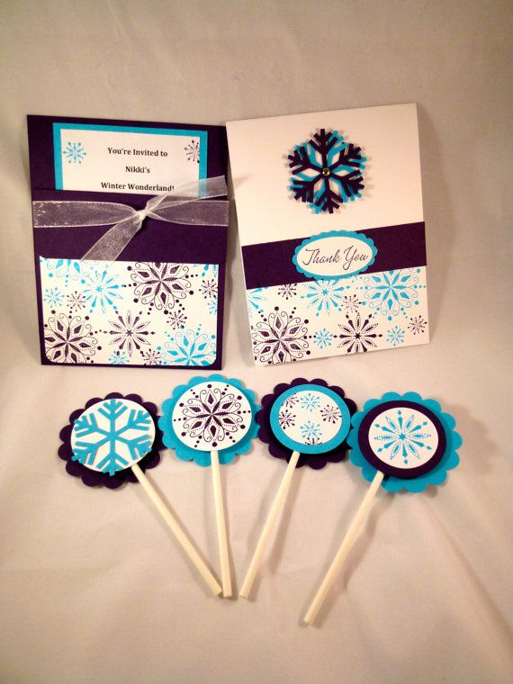 Winter Wonderland Party Package  set of 10 by baybreezedesigns, $54.95