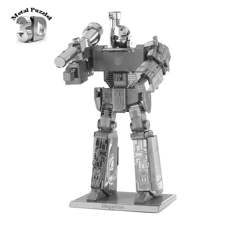 3D Metal Puzzles Miniature Model DIY Jigsaws Science Fiction Cartoon Model Silver  Gift for Children MEGATRON //Price: $8.99 & FREE Shipping //     #hashtag3