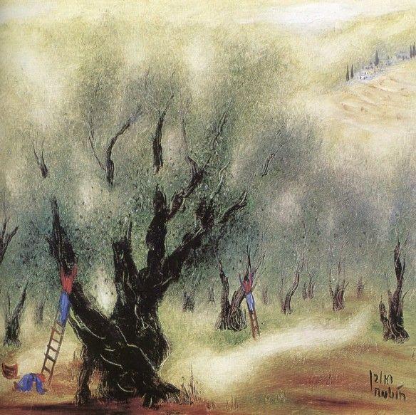 """Picking Olives"" by Reuven Rubin"