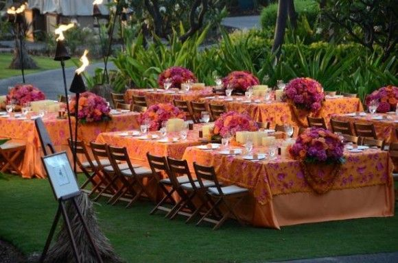 pintrest tiki wedding ideas | colorful luau | Wedding Reception Decoration & Ideas