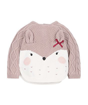 Knitted Deer Jumper | knitwear | Mothercare