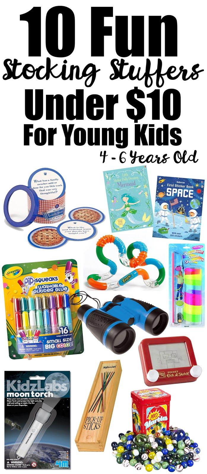 Love, Joleen: 10 Fun Stocking Stuffers Under $10 for Young Kids Ages 4 to 6 Years Old | Cheap Stocking Stuffers | Stocking Stuffers for Kids | Christmas Gifts | Gift Ideas