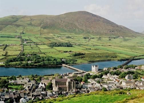 Towns on the ring of kerry ireland