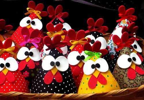 Fabric Chicken Roundup - Sugar Bee Crafts