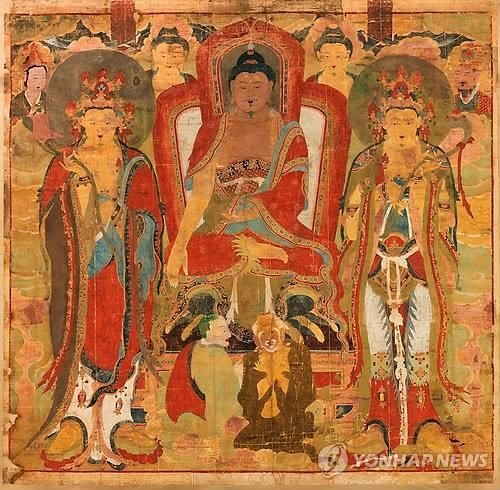 Korean Buddhist Art   Korea reclaims stolen 18th-century Buddhist painting : Buddhist Art ...