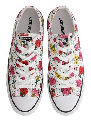 Converse All Star Floral Polka Dot Print Ox Trainers