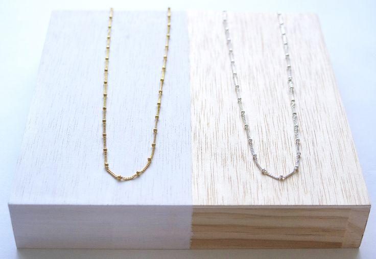 Collar Chain, baño oro o plata.