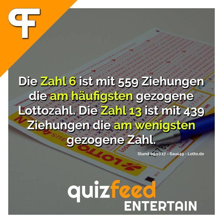 Die Zahl 6 ist mit 559 Ziehungen die am häufigsten gezogene Lottozahl. Die Zahl 13 ist mit 439 Ziehungen die am wenigsten gezogene Zahl. Wissen clever verpackt! . #lotto #wahrscheinlichkeit #zahlen #glück #zahl #pech #spielen #statistiken #tippen