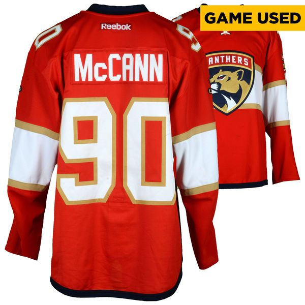 Jared Mccann Florida Panthers Fanatics Authentic Game-Used #90 Red Set 1 Jersey From The 2016-17 NHL Season - Size 56 - $499.99