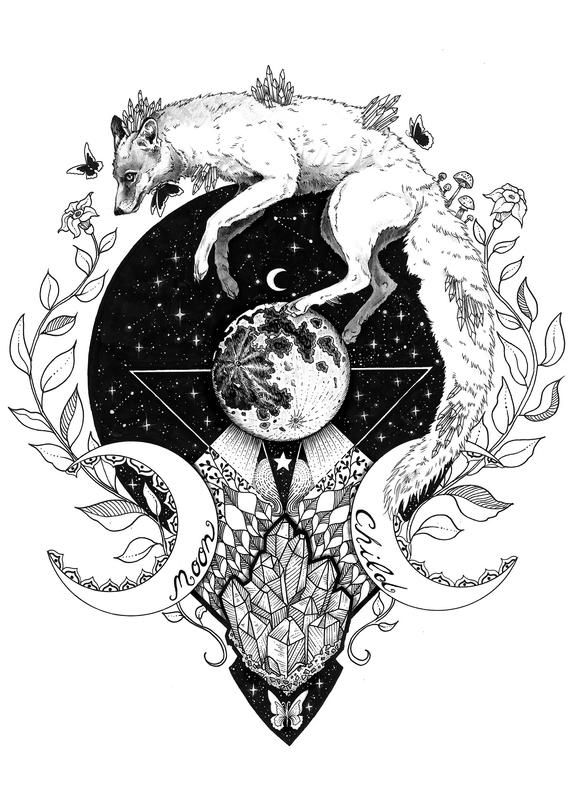 Moon Child Original In 2020 Drawings Tattoo Drawings Art Prints