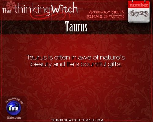Thinking Witch Taurus Fact for today
