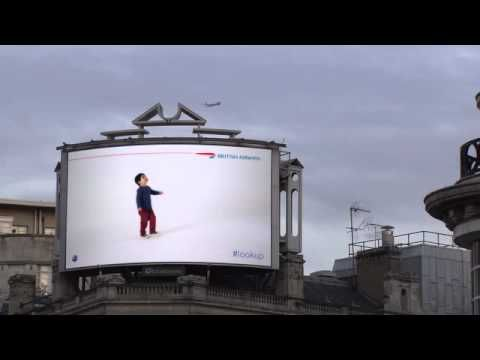 British Airways - #lookup in Piccadilly Circus - YouTube