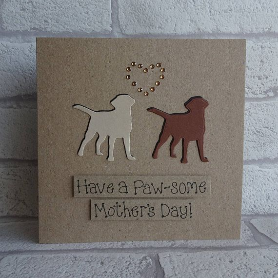 Two dog personalised custom birthday card Mother's Day
