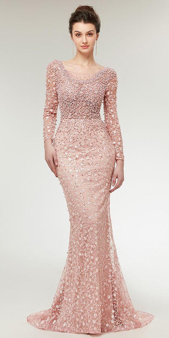 f1e3fc63 ⚜PINTEREST ELEGANT POINT⚜ | M E | Prom dresses, Mermaid evening dresses, Prom  dresses with sleeves