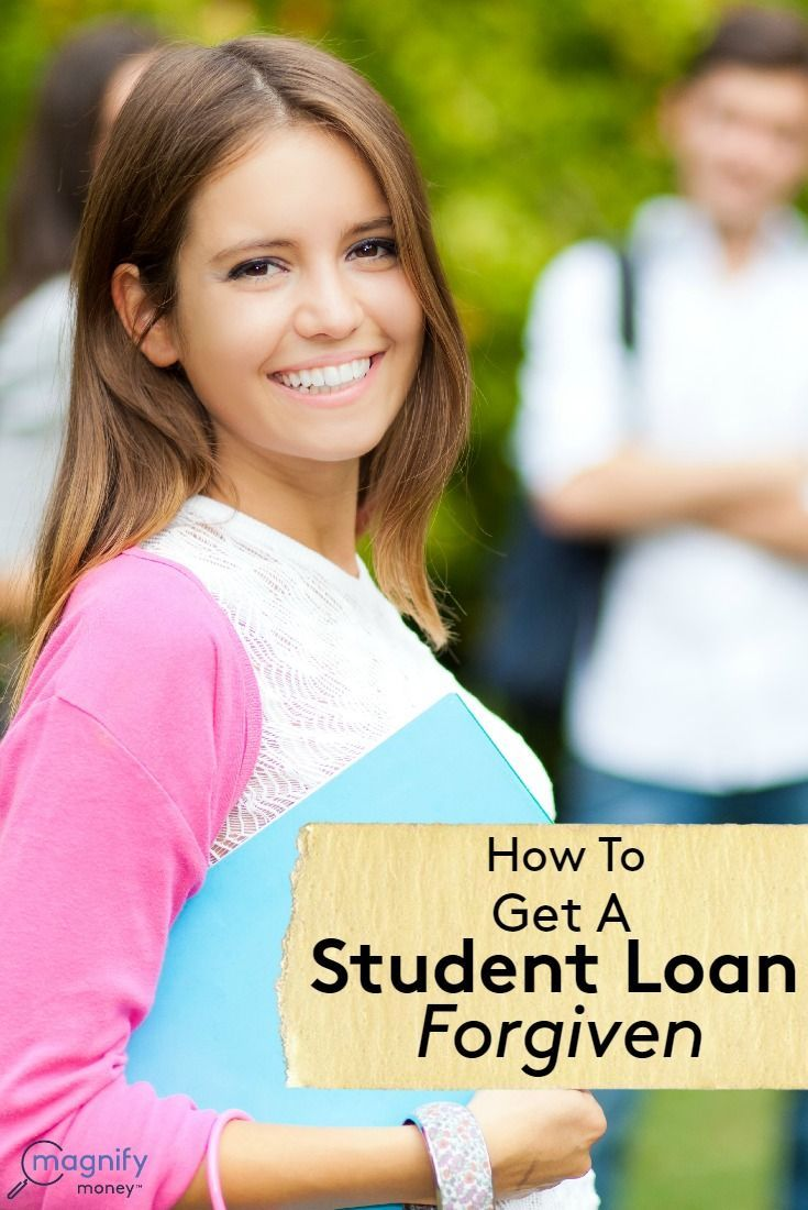 To get a student loan forgiven, you can seek out programs that are career-based, meaning they provide aid for those in certain professions. Or you can look into plans based on your income level. http://www.magnifymoney.com/blog/college-students-and-recent-grads/get-student-loan-forgiven1190167365