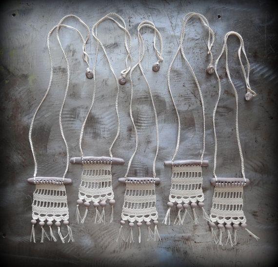Collar de Bohemia ganchillo hecho a mano Original por Monicaj