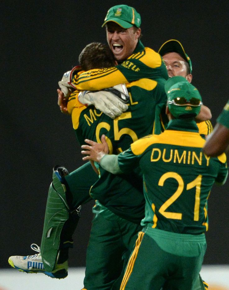 AB de Villiers is ecstatic after South Africa's close win, Pakistan v South Africa, 1st ODI, Sharjah, October 30, 2013