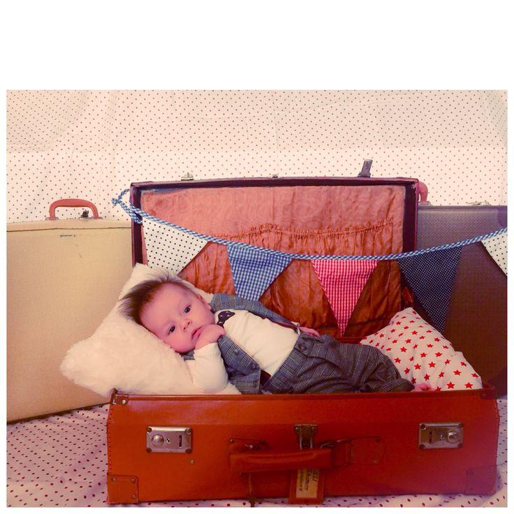 Suitcase baby boy!
