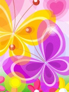 You can download wallpaper Cute Butterflies for your mobile directly ...