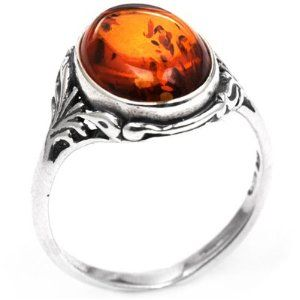 Amber ring.  Engagement ring