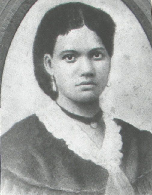 Portrait of Sally Hemings who was a slave of Thomas Jefferson and the mother to his six children.