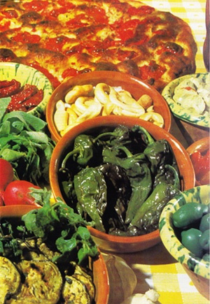 Food from Puglia, Italy. From: deAgostini Publication.