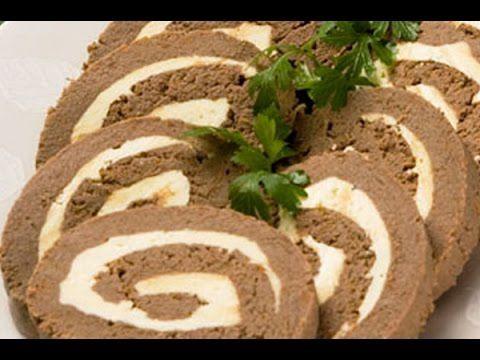 Легкие Закуски Рулет омлет из печени Красиво и очень полезно - YouTube