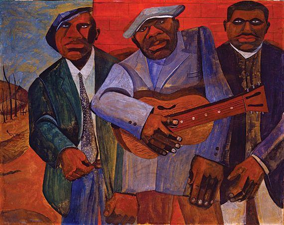 Romare Bearden - Folk Musicians, 1941-42 | Romare bearden ...